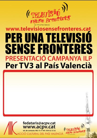 """davant la votació de """"televisió sense fronteres"""""""