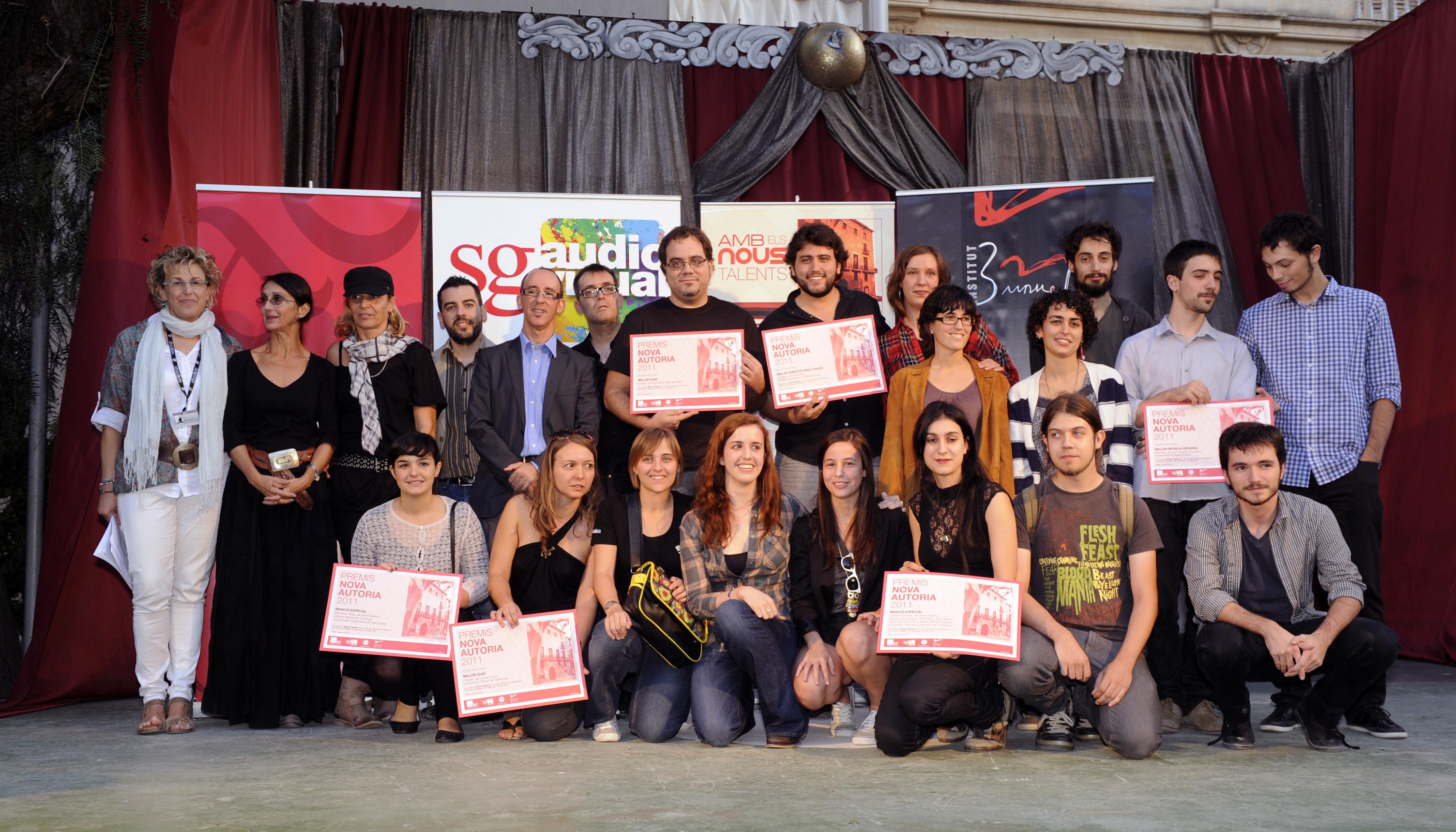 """sitges 2011/ els guanyadors de """"nova autoria"""""""