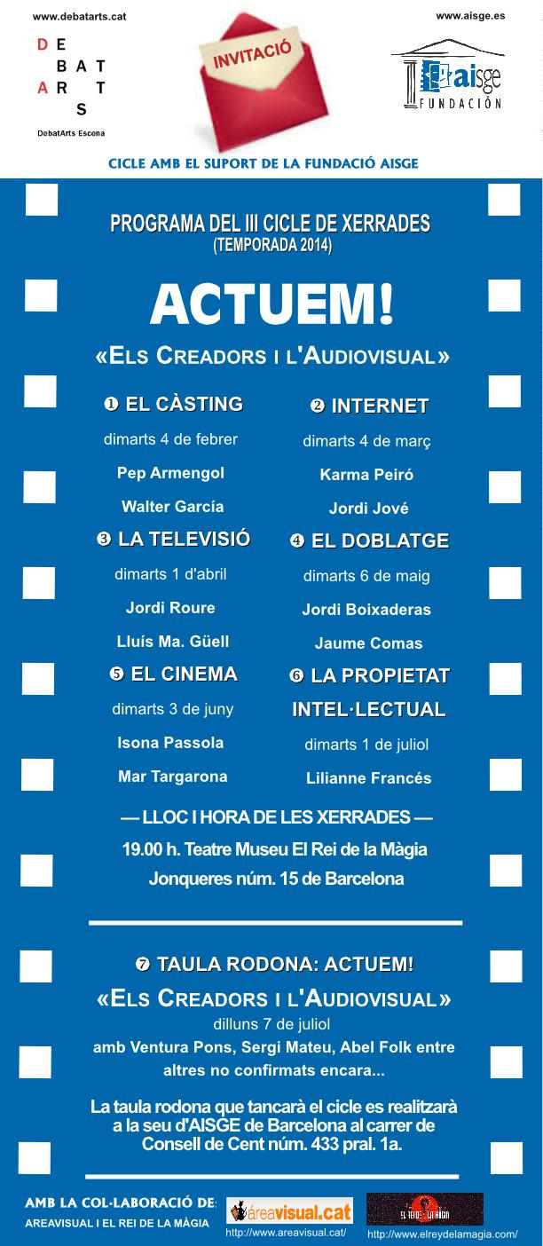 """CICLE DEBATARTS: """"EL CASTING"""" DIMARTS 4"""