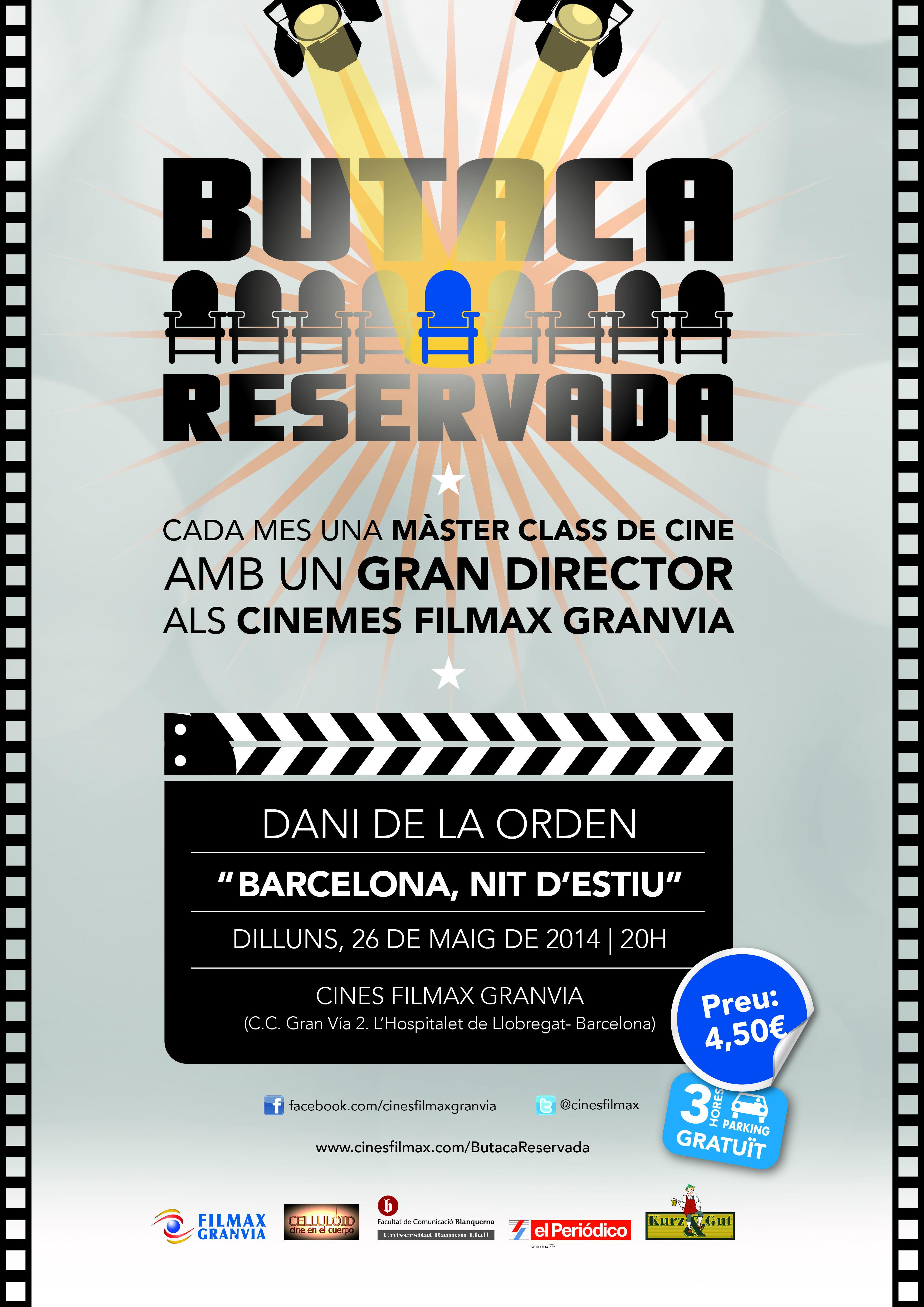 """El director Dani de la Orden i """"Barcelona nit d´estiu"""" als Filmax Granvia el dilluns 26 de maig"""