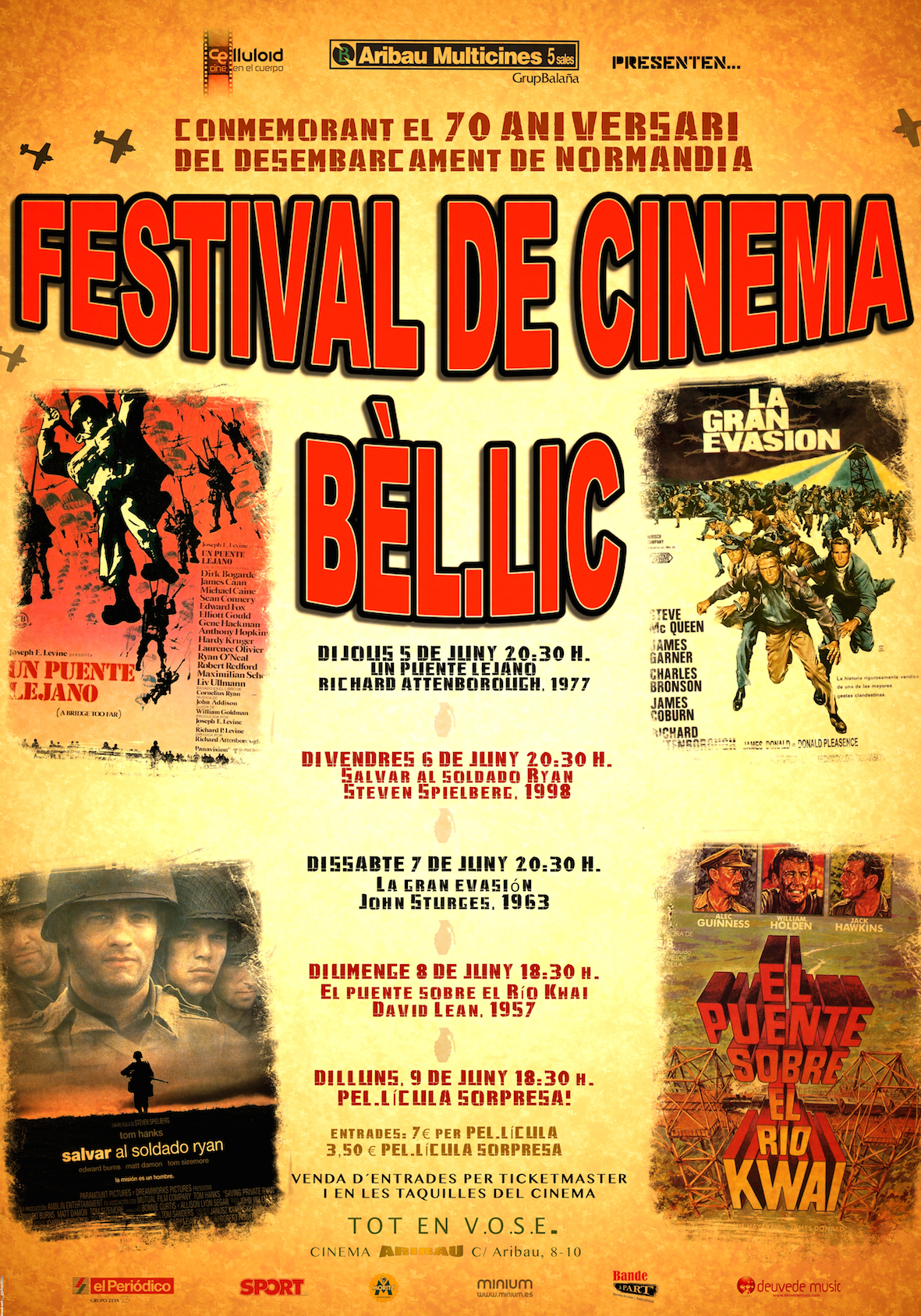 Festival de Cinema Bèl.lic- Cinema Aribau- Del 5 al 9 de juny
