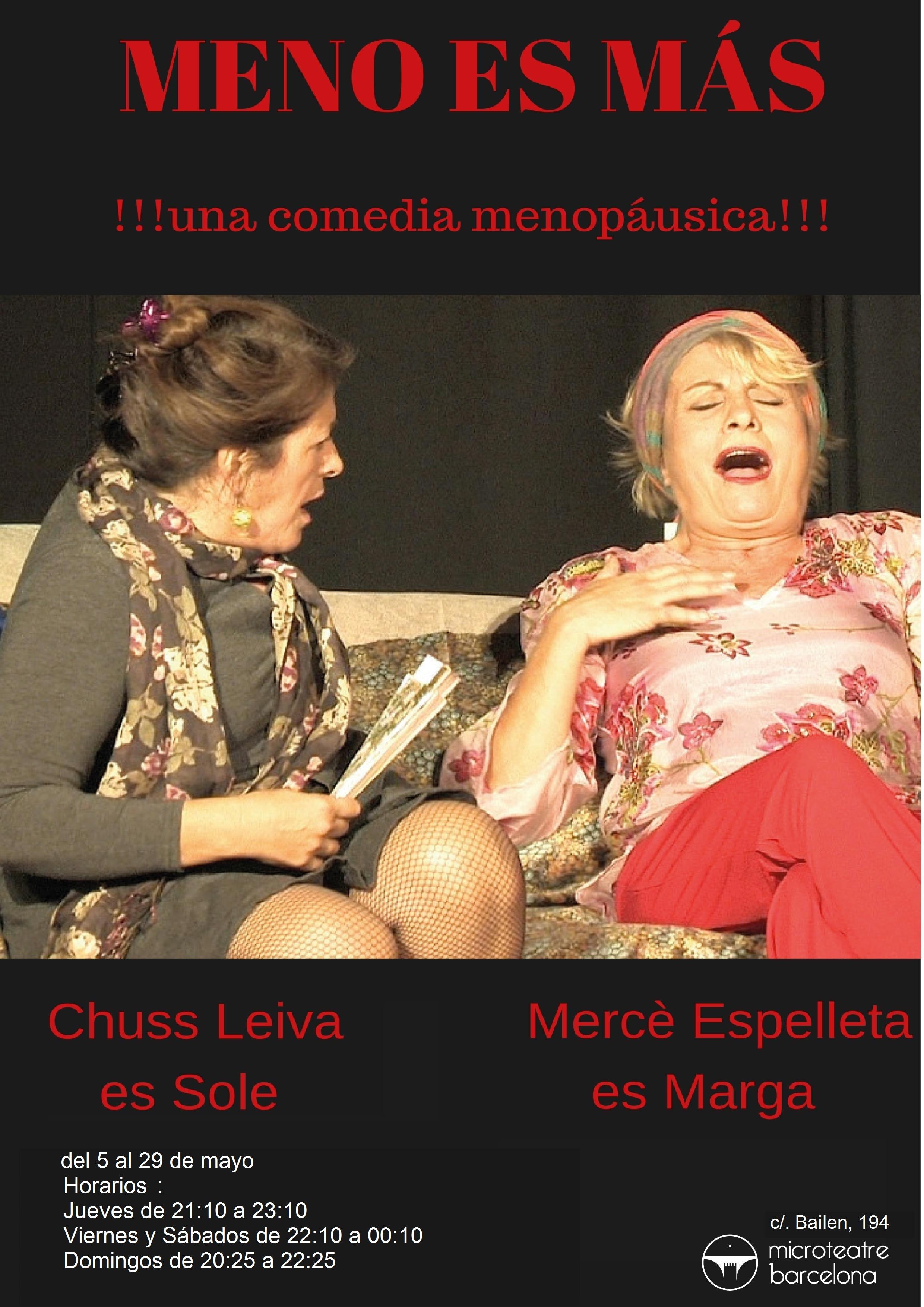 MENO…ES MÁS, una comedia menopáusica