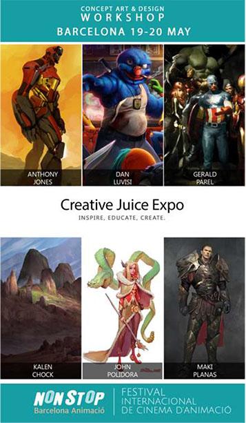 Creative Juice Seminar, taller de concept art i disseny amb artistes internacionals