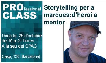 """Daniel Resnich parla de l' """"Storytelling per a marques: d'heroi a mentor"""" a la #proclass d'octubre"""