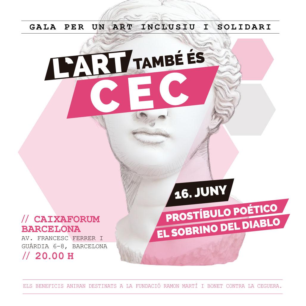 Participa a la gala solidària L'ART TAMBÉ ÉS CEC