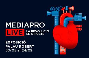 MEDIAPRO porta al Palau Robert una exposició sobre la revolució del món audiovisual