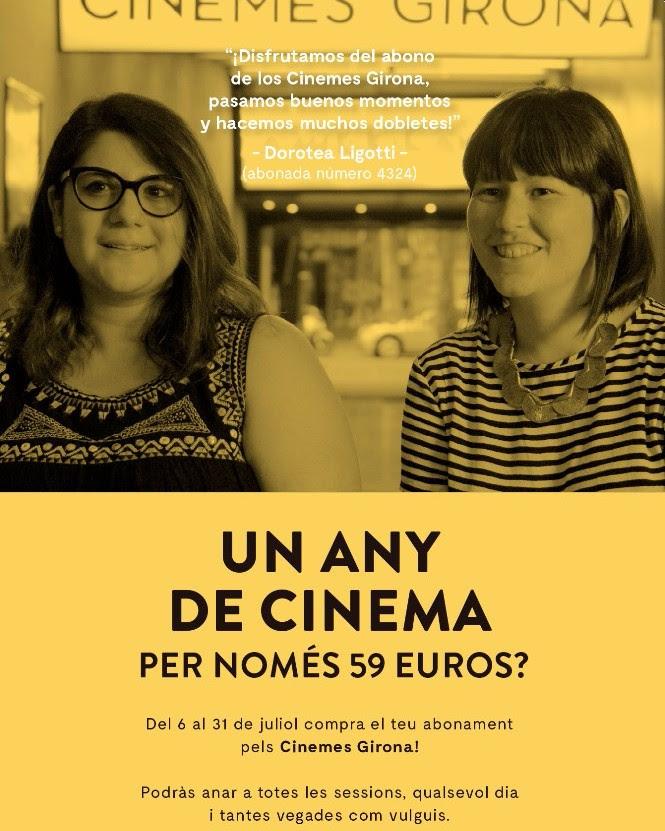 Els Cinemes Girona ofereixen abonaments anuals pels cinèfils
