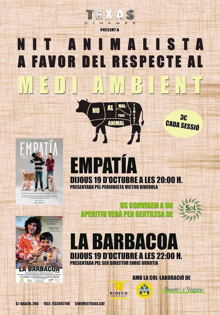 DJ 19 OCTUBRE: NIT ANIMALISTA AL CINEMA TEXAS