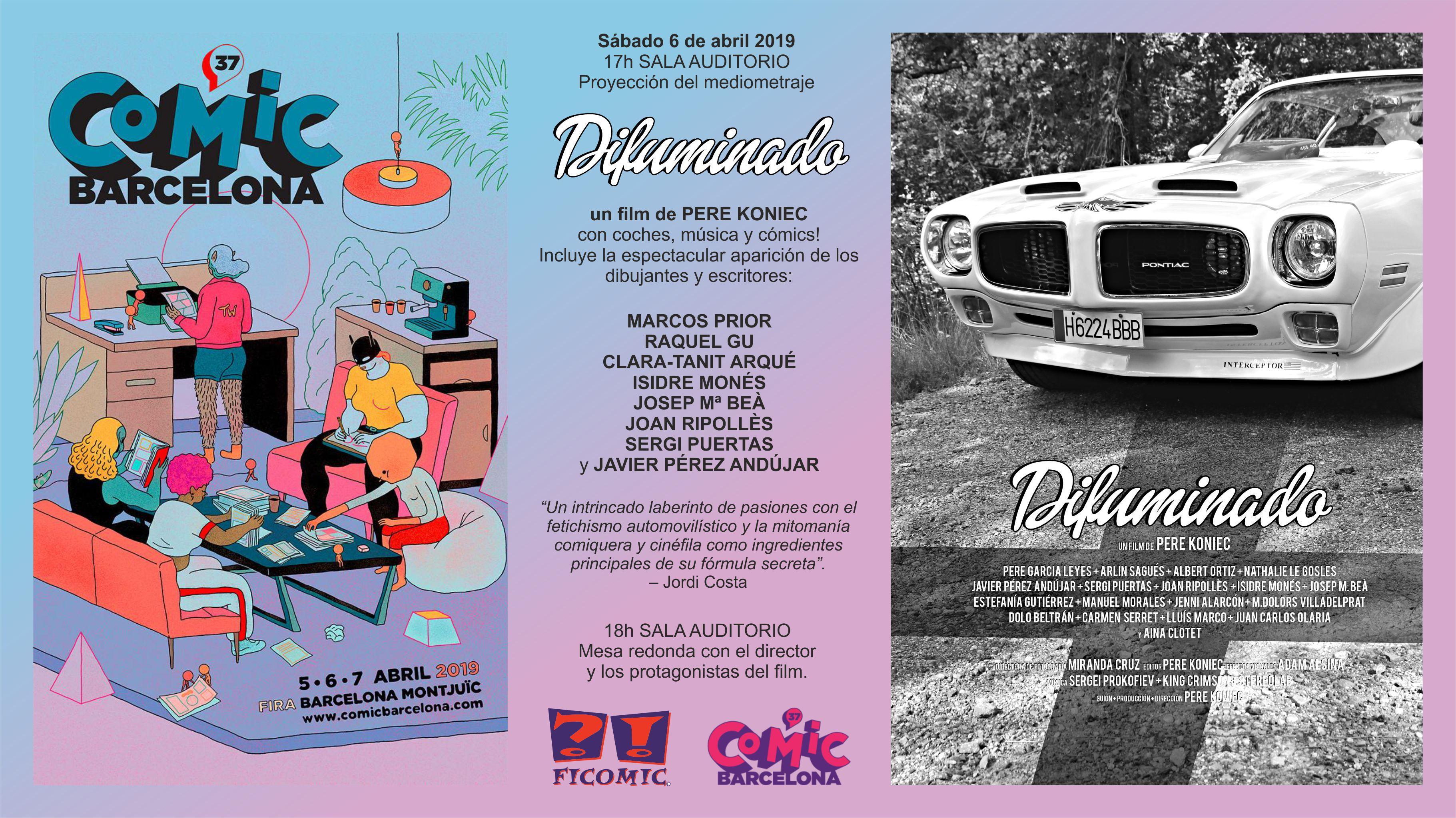"""Projecció del film """"Difuminado"""" al Saló del Còmic de Barcelona"""