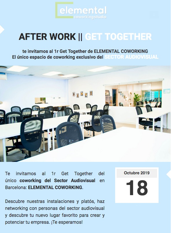 """Dv 18/10: Networking After Work a """"Elemental Coworking"""""""