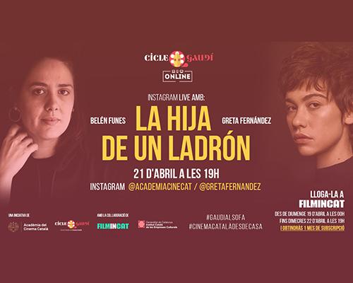 """Fins el 22/4/20 """"La hija de un ladrón"""" on line"""